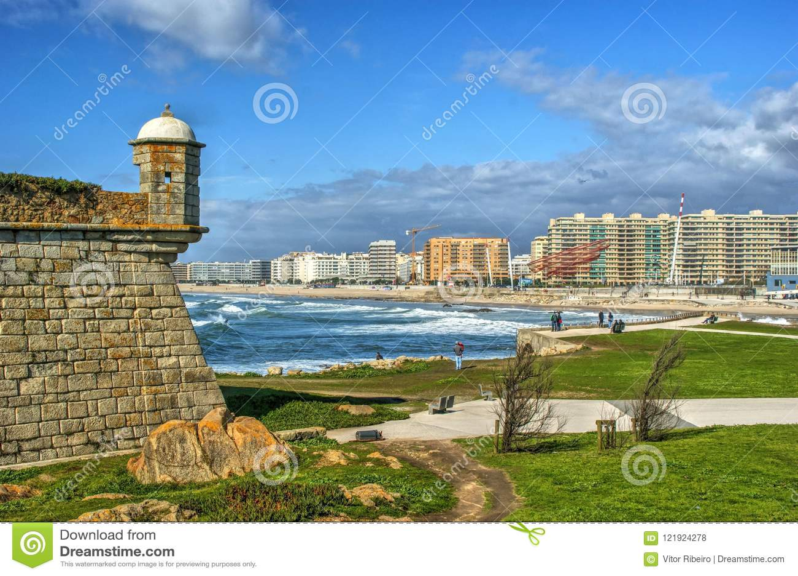 Fortress overlooking the coast of the Atlantic Ocean
