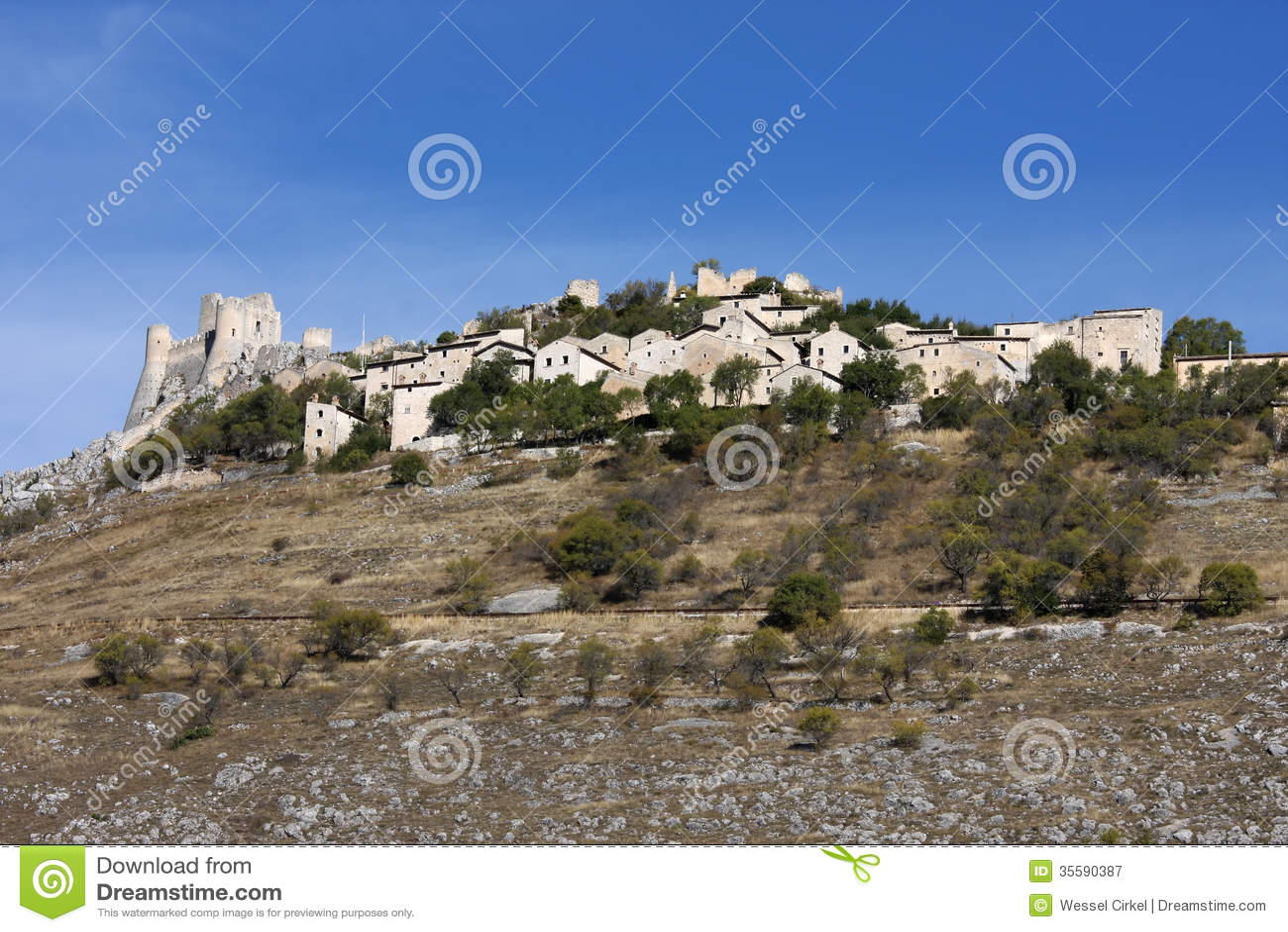 Fortress of Rocca Calascio, Apennines, Italy