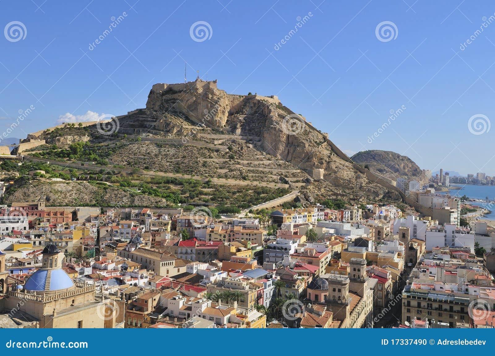 Fortress of santa barbara alicante spain stock photo image 17337490 - Stock uno alicante ...