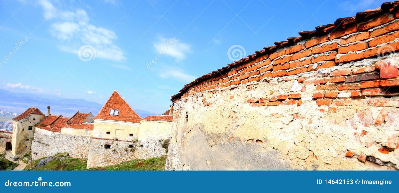 Fortress walls, Rasnov-Romania