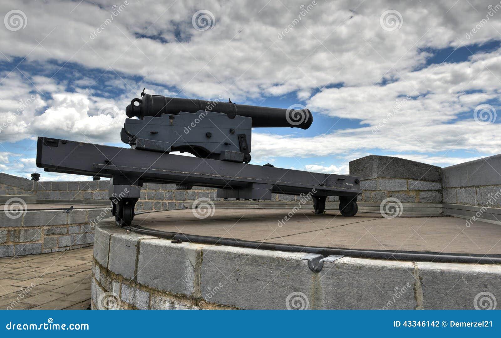 Fortu Henry Historycznego miejsca Krajowy działo