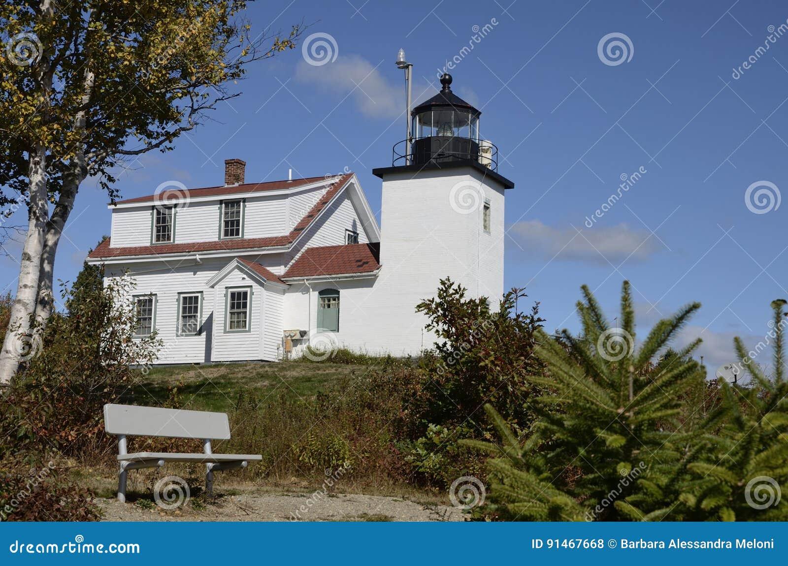 Fortu punktu latarnia morska, Nowa Anglia, Maine, Stany Zjednoczone