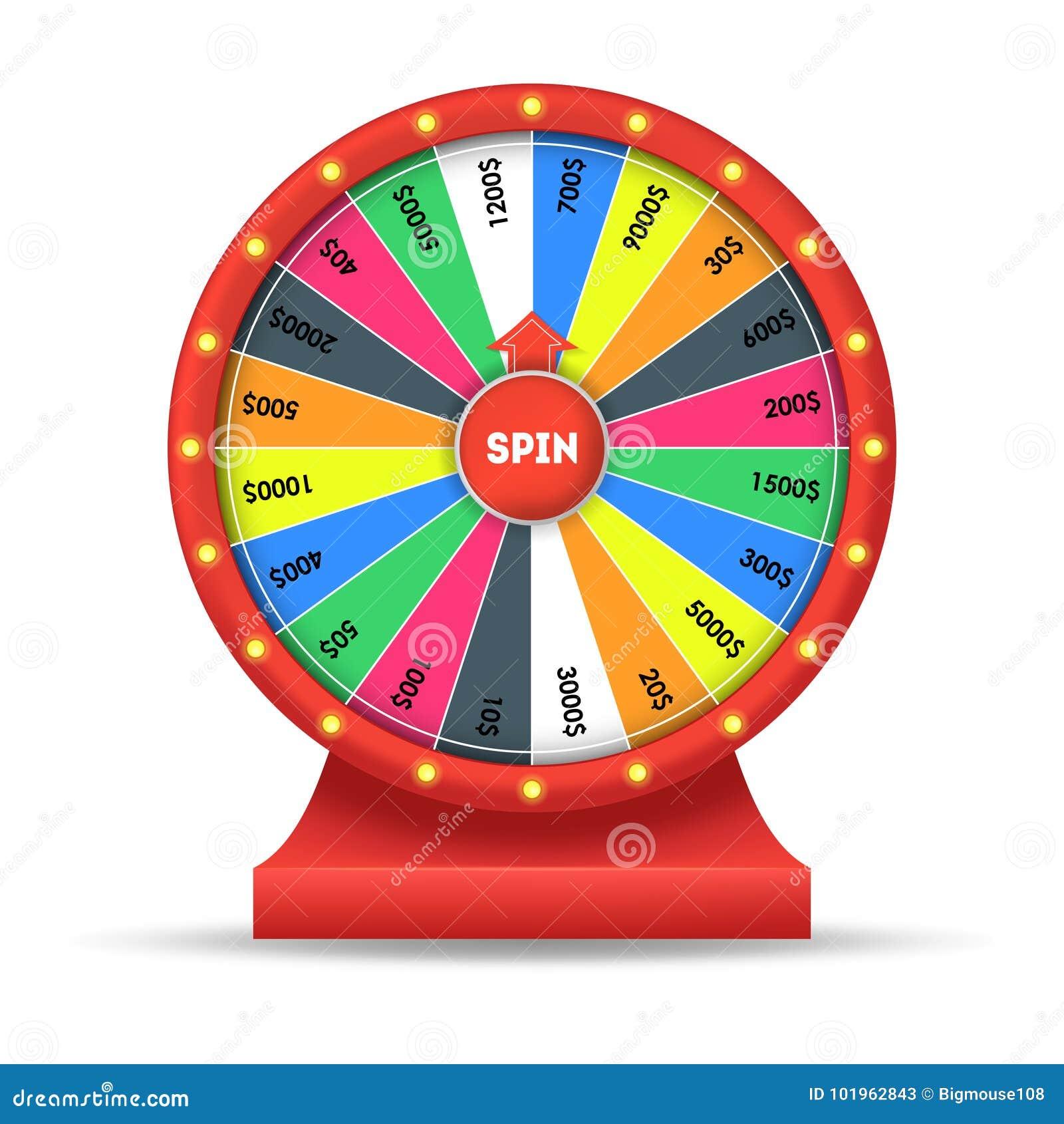 Fortune détaillée réaliste de chance de roue Vecteur