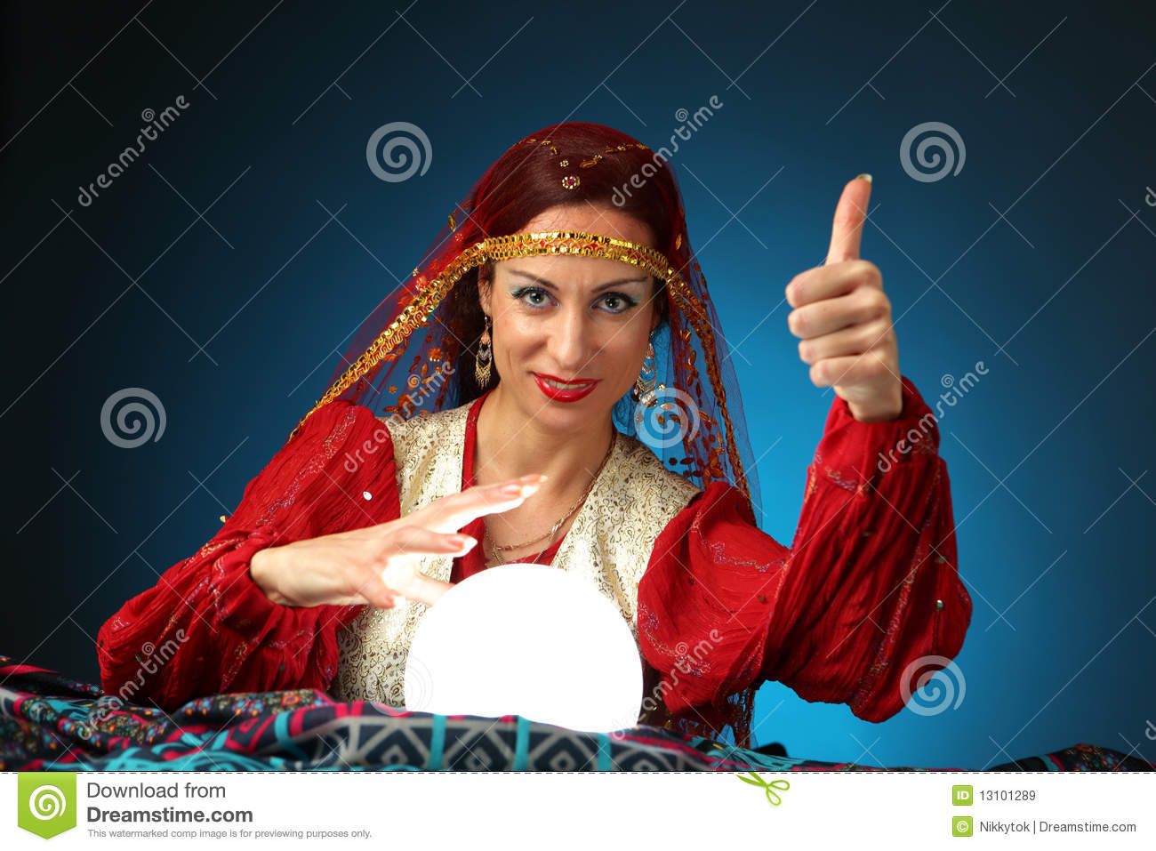 Fortune-teller stock image. Image of attractive, gypsy ... Crystal Ball Fortune Teller