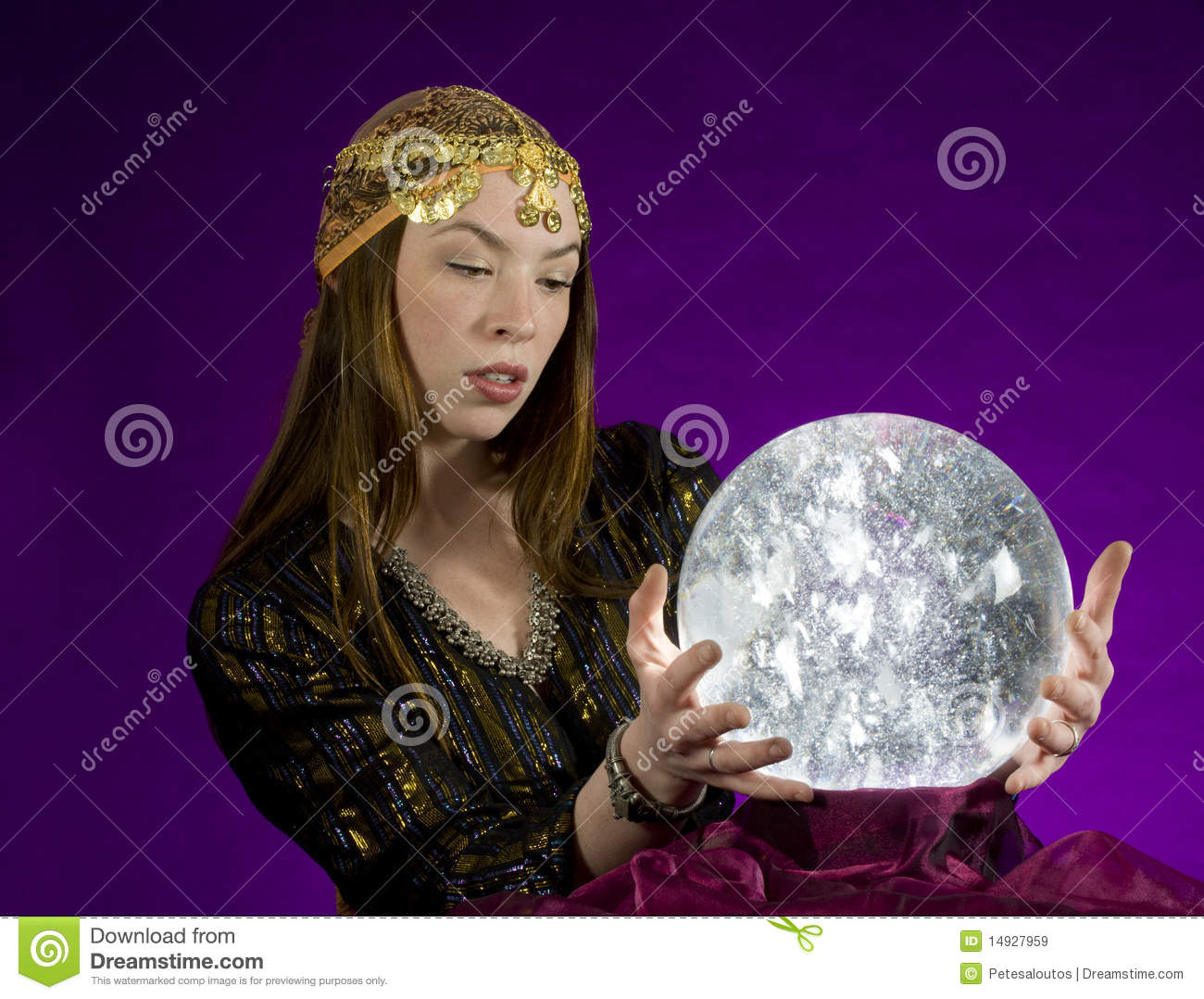 Fortune Teller With Crystal Ball Royalty Free Stock Images ...