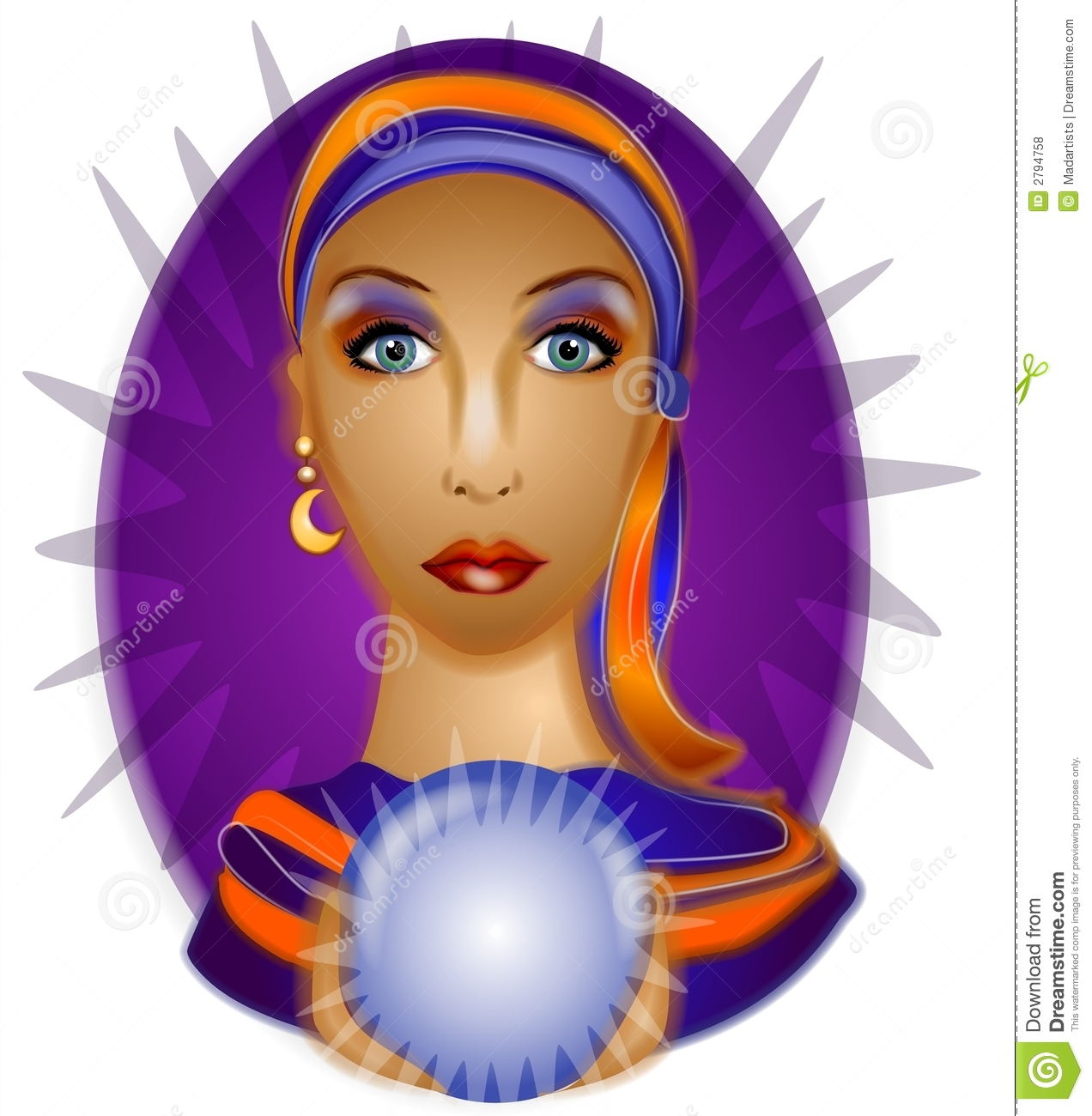 Fortune Teller Crystal Ball 2 Royalty Free Stock Photos