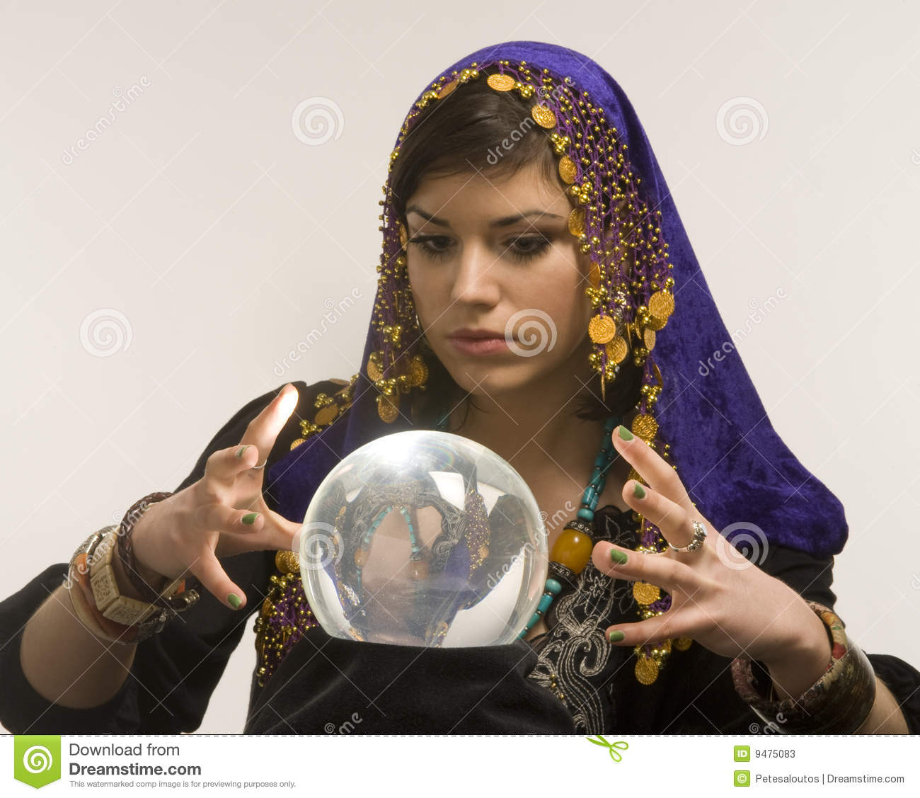Fortune Teller Crystal Ball Stock Photos, Images, & Pictures ...