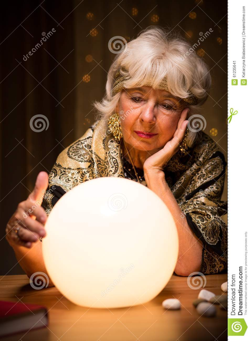 Fortune Teller With Crystal Ball Stock Photo - Image: 61235641 Crystal Ball Fortune Teller