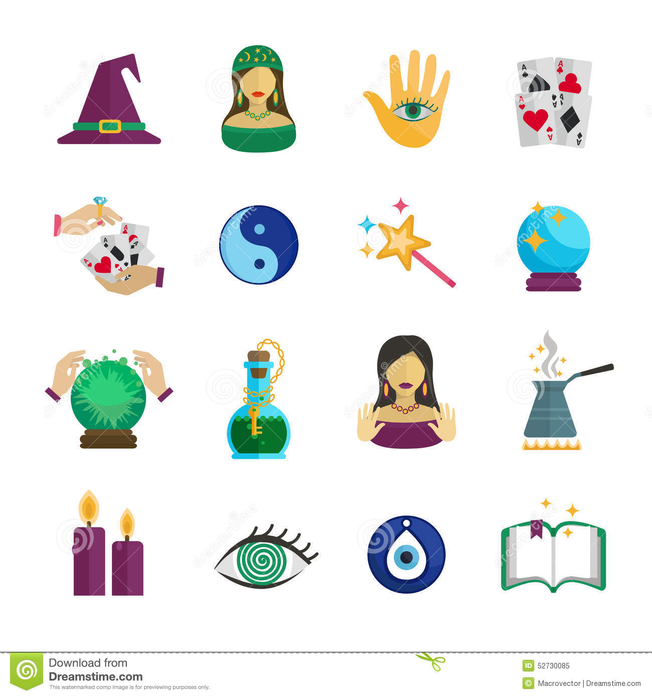 Gypsy Stock Images, Royalty-Free Images & Vectors ... |Gypsy Fortune Teller Symbols