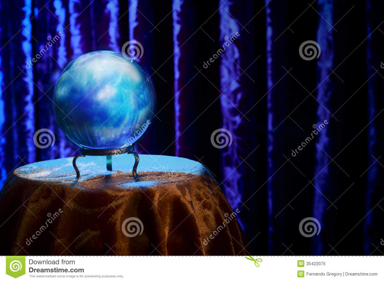 Fortune Teller's Crystal Ball With Dramatic Lighting ...