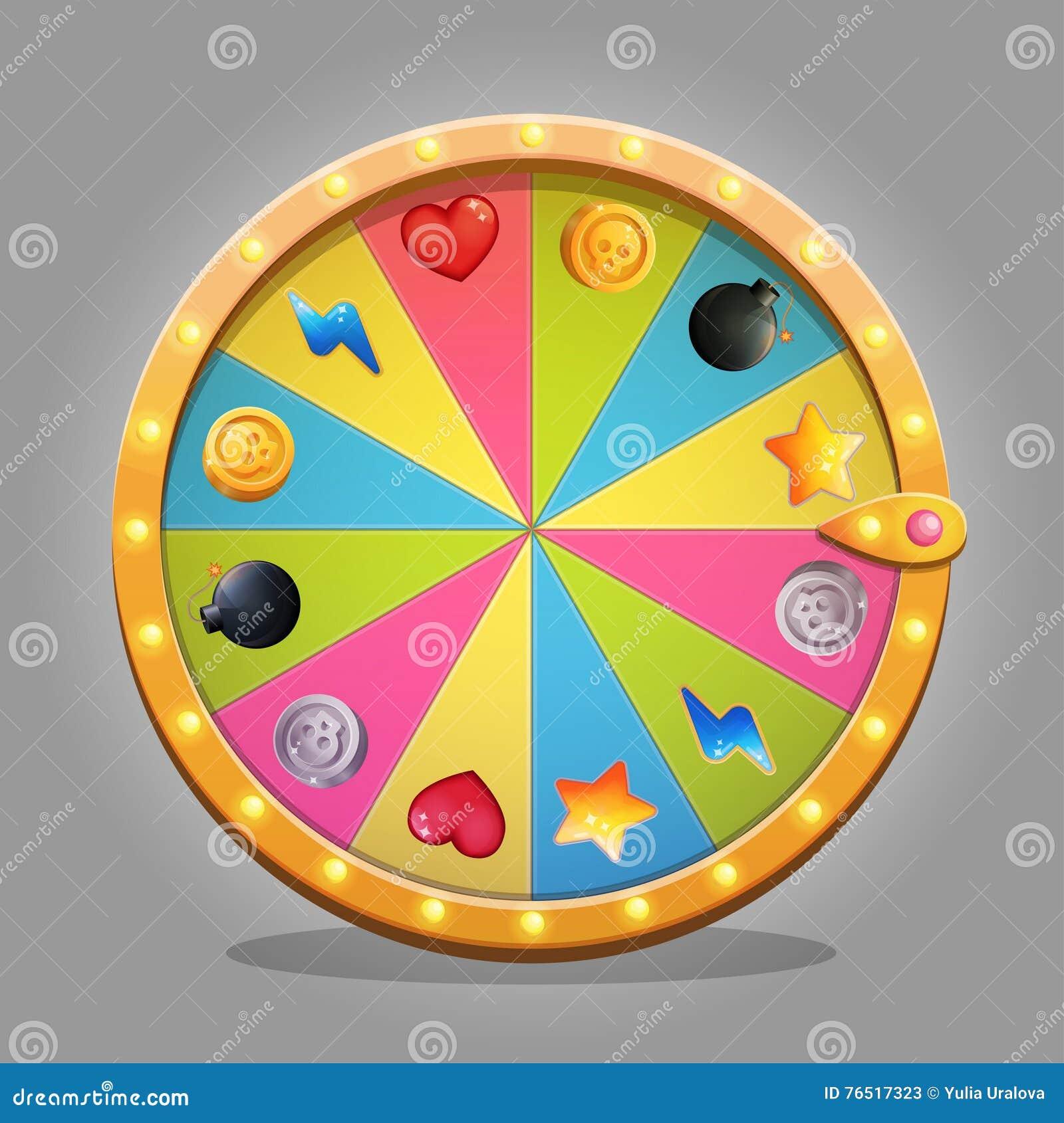 Fortune Wheel Design Element Stock Vector - Illustration