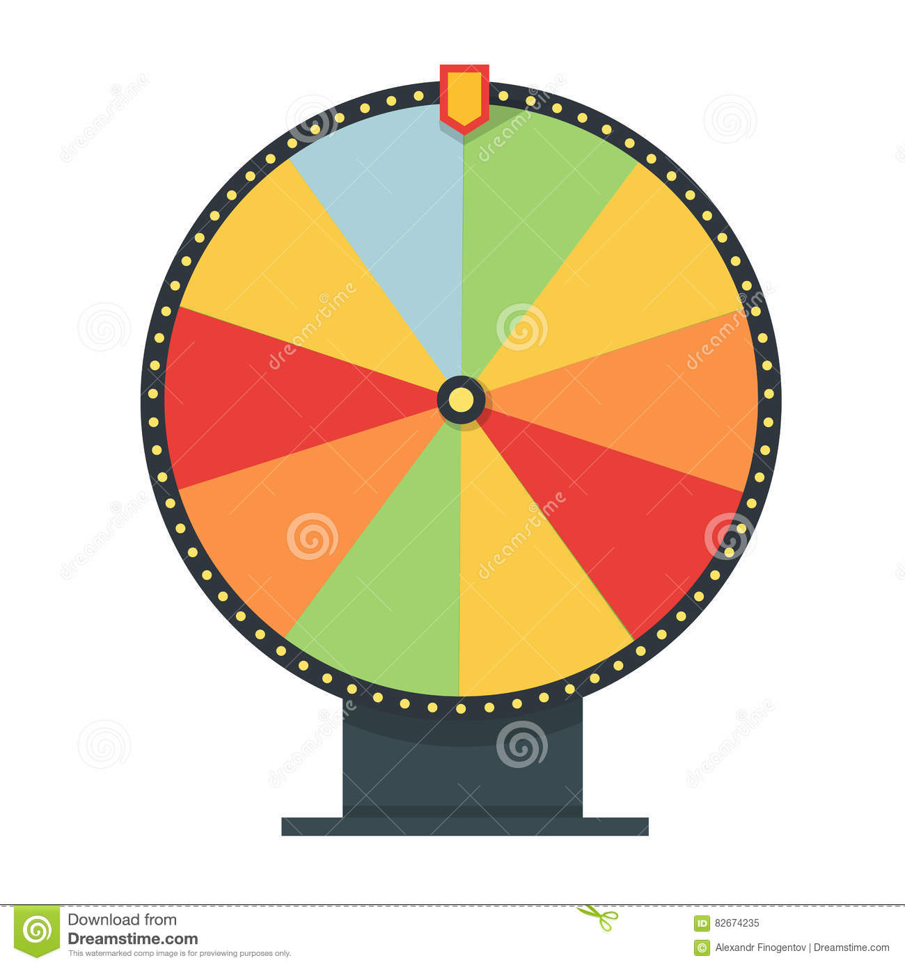 online wheel of fortune template - gambling concept vector flat style illustration cartoon