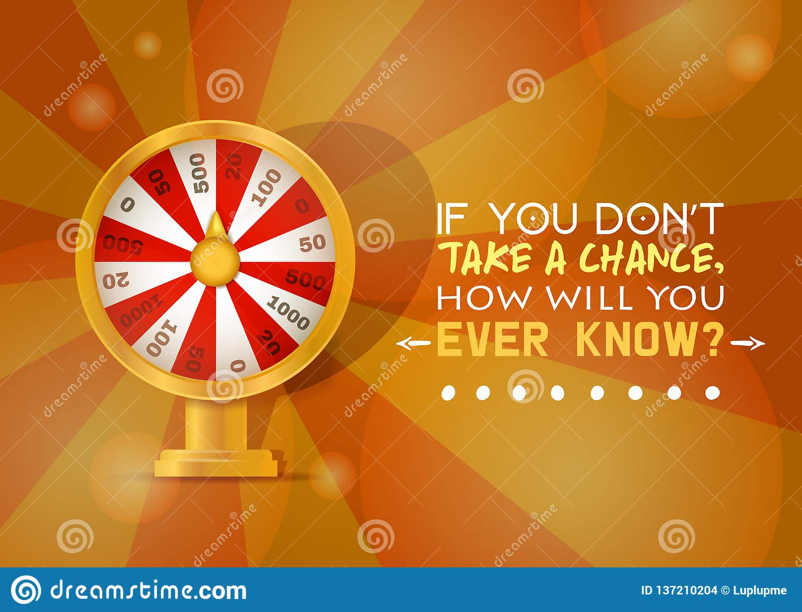 Fortune Wheel Vector Try To Win In Spin Game Casino Roulette
