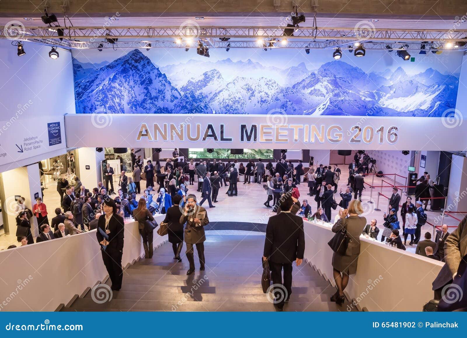 Forum économique mondial dans Davos (Suisse)