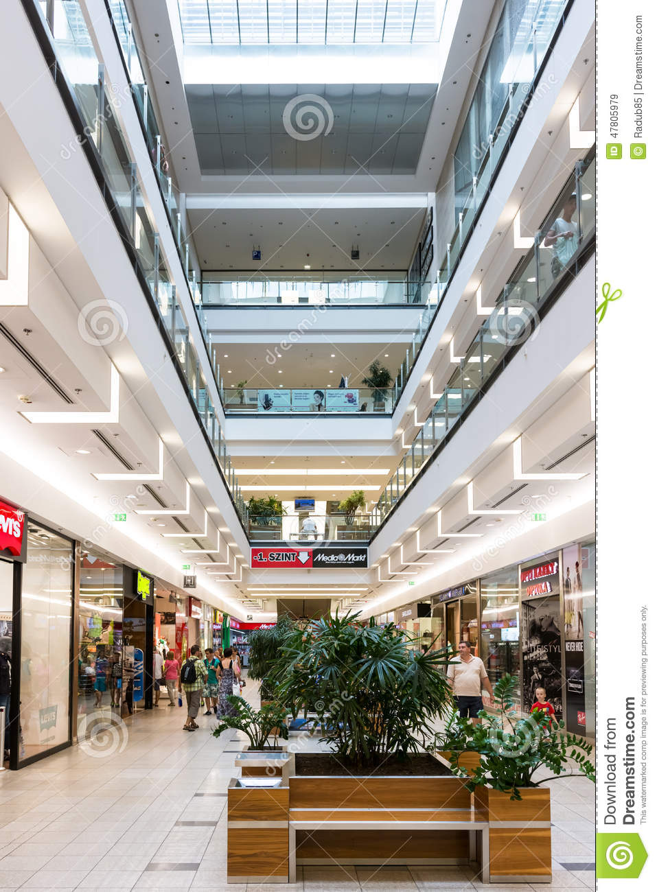 54243f7dd199 DEBRECEN, HUNGARY - AUGUST 26, 2014: Forum Debrecen Shopping Mall, one of  the biggest shopping mall in town is located downtown the historical center  of ...