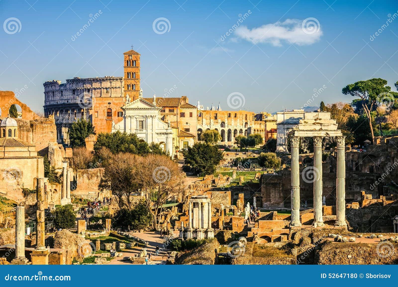 Forum en Coliseum in Rome