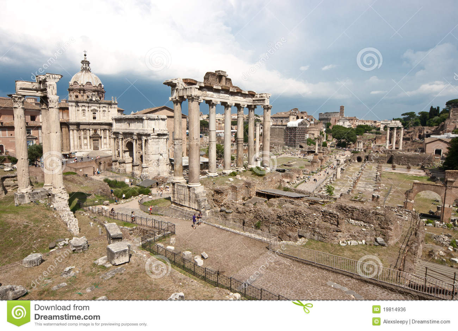 Forum Romanum Royalty-vrije Stock Afbeelding - Afbeelding ...