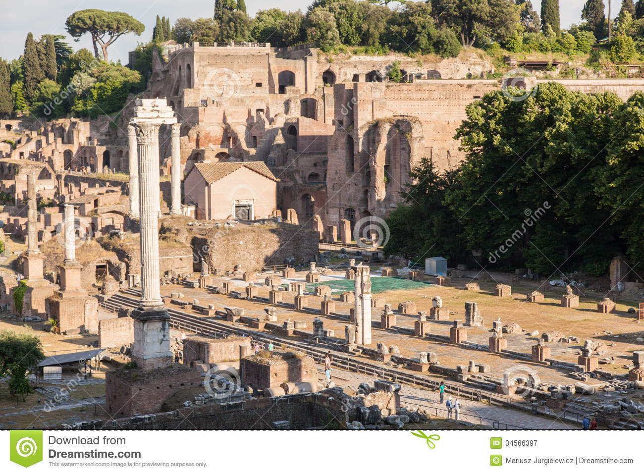 Forum Romanum, stock image. Image of italy, historical ...