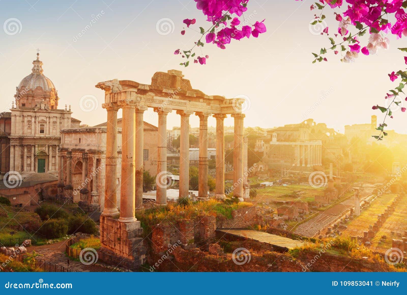 Forum - romaren fördärvar i Rome, Italien