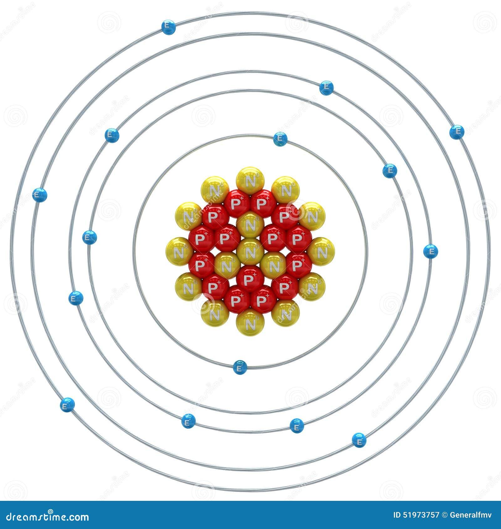 Bohr Diagram Nitrogen Fosforatom På En ...