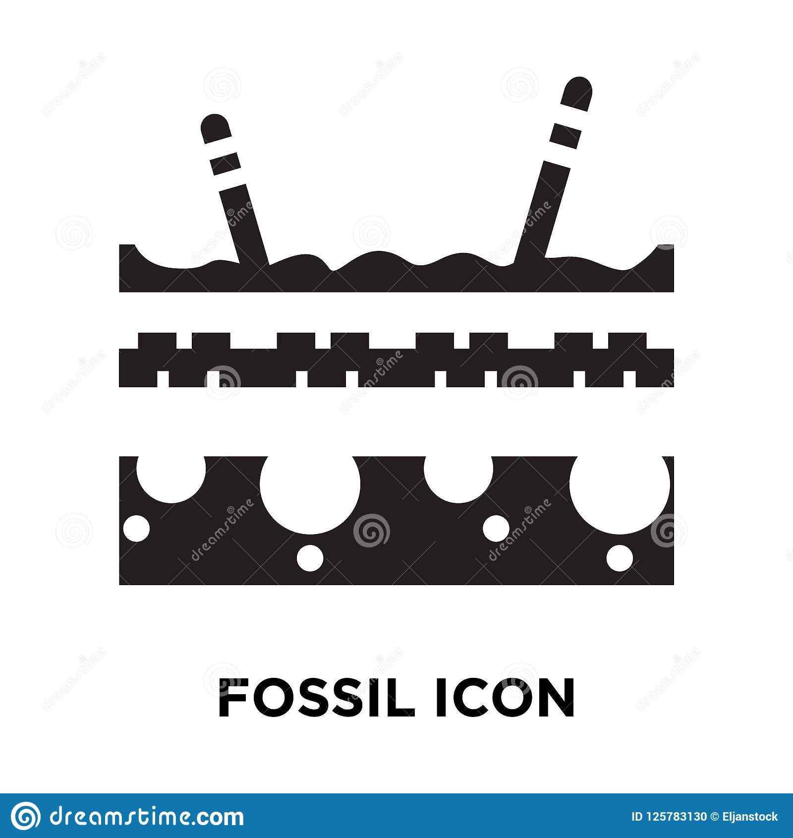 Fossil icon vector isolated on white background, logo concept of
