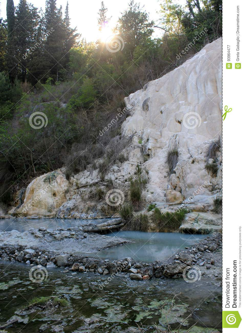 Fosso Bianco Rock Formation In Tuscany Stock Image - Image of fosso ...