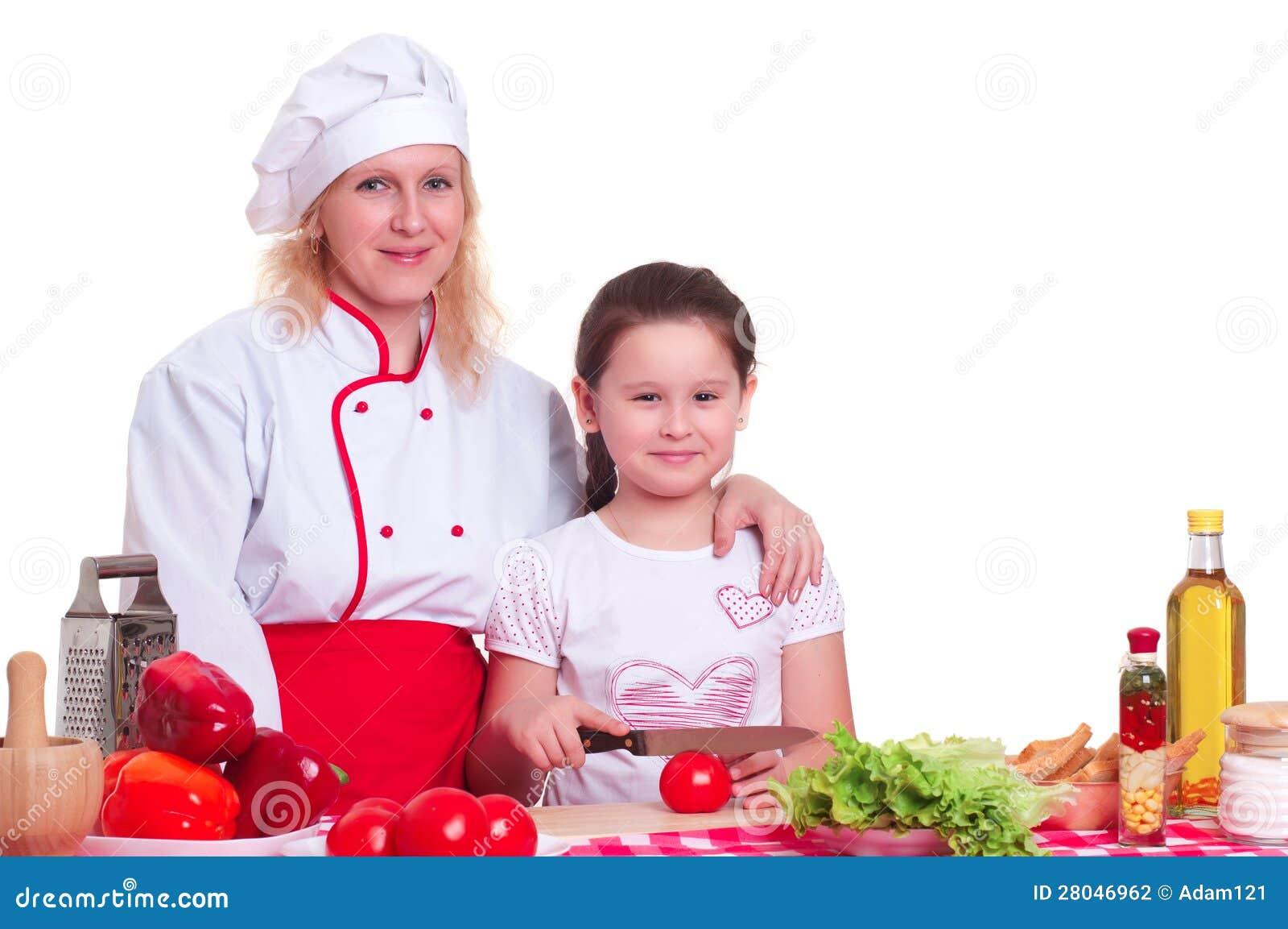 Fostra och dottermatlagningmatställen