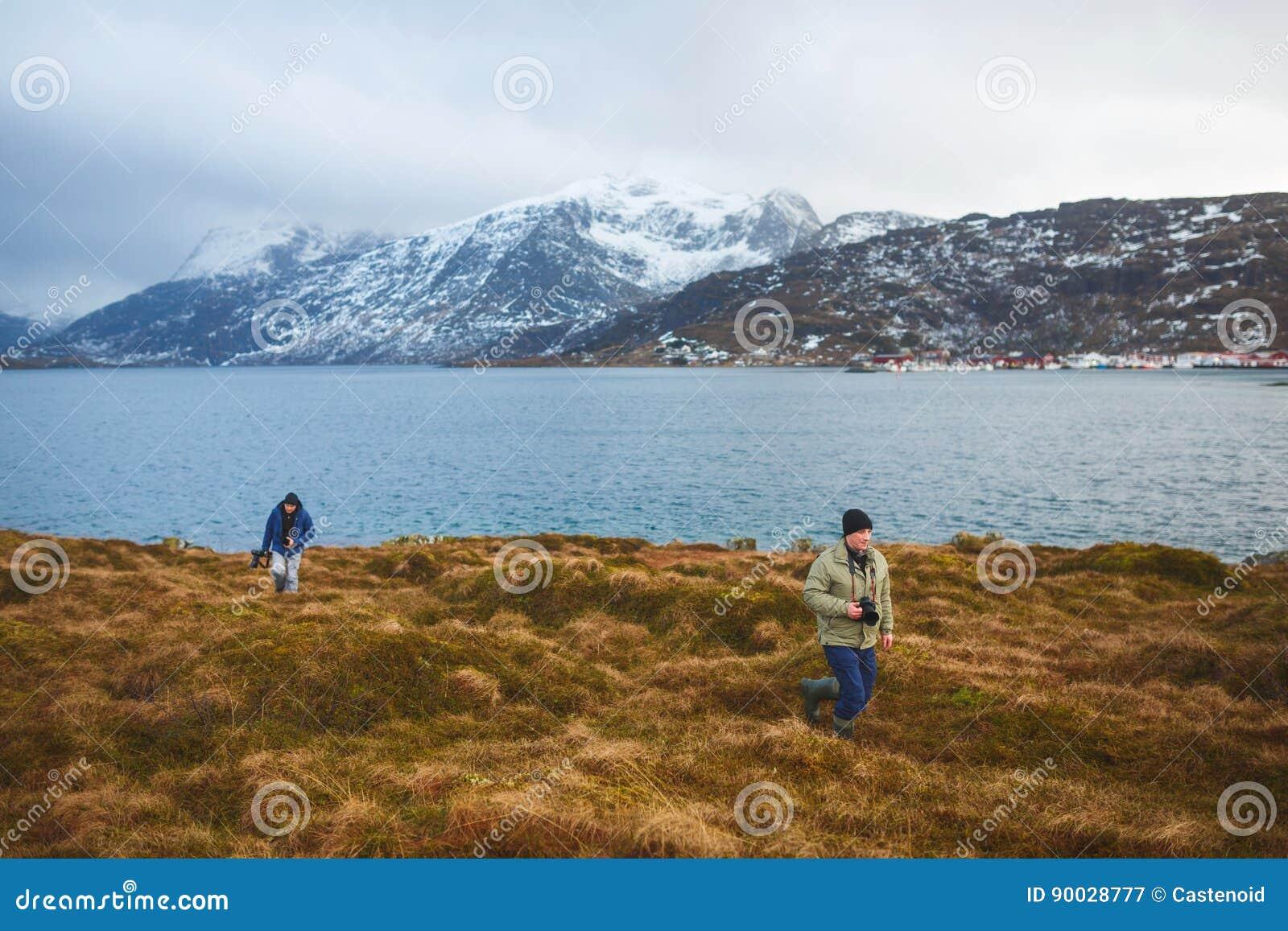 Fotógrafos del viaje en Lofoten