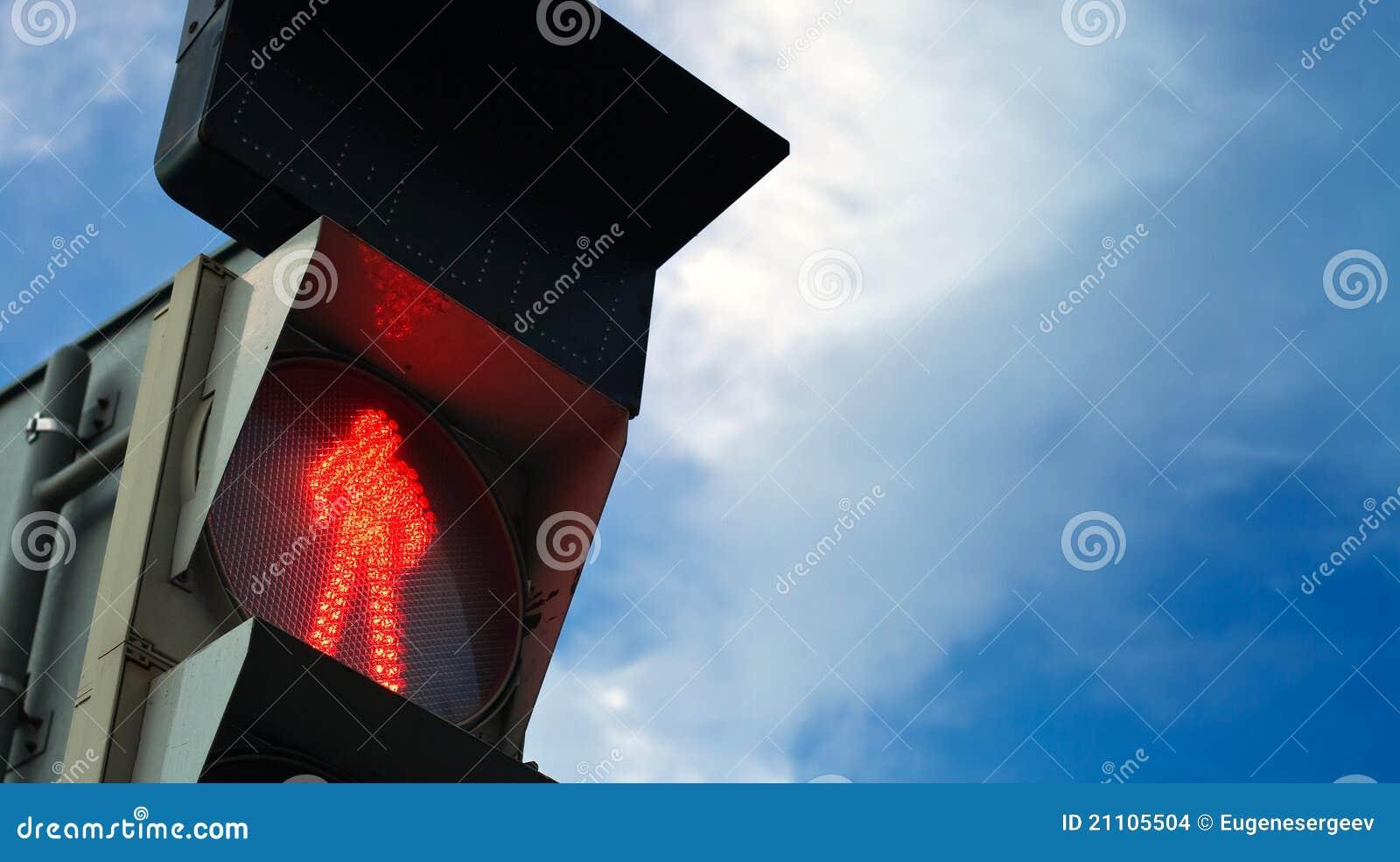 Fot- signalering för trafikljusshowsred