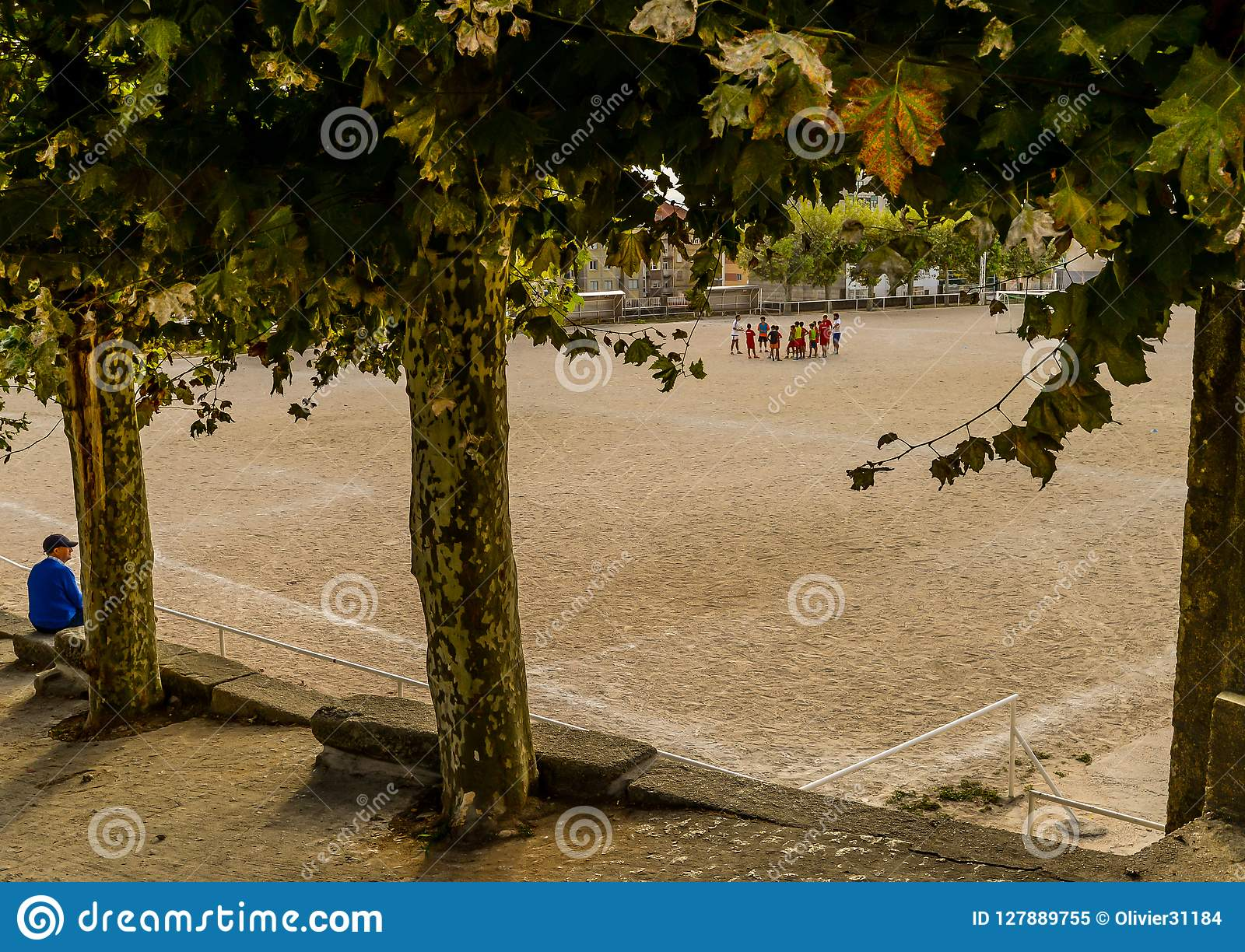 Fotbollövning i Vigo - Spanien