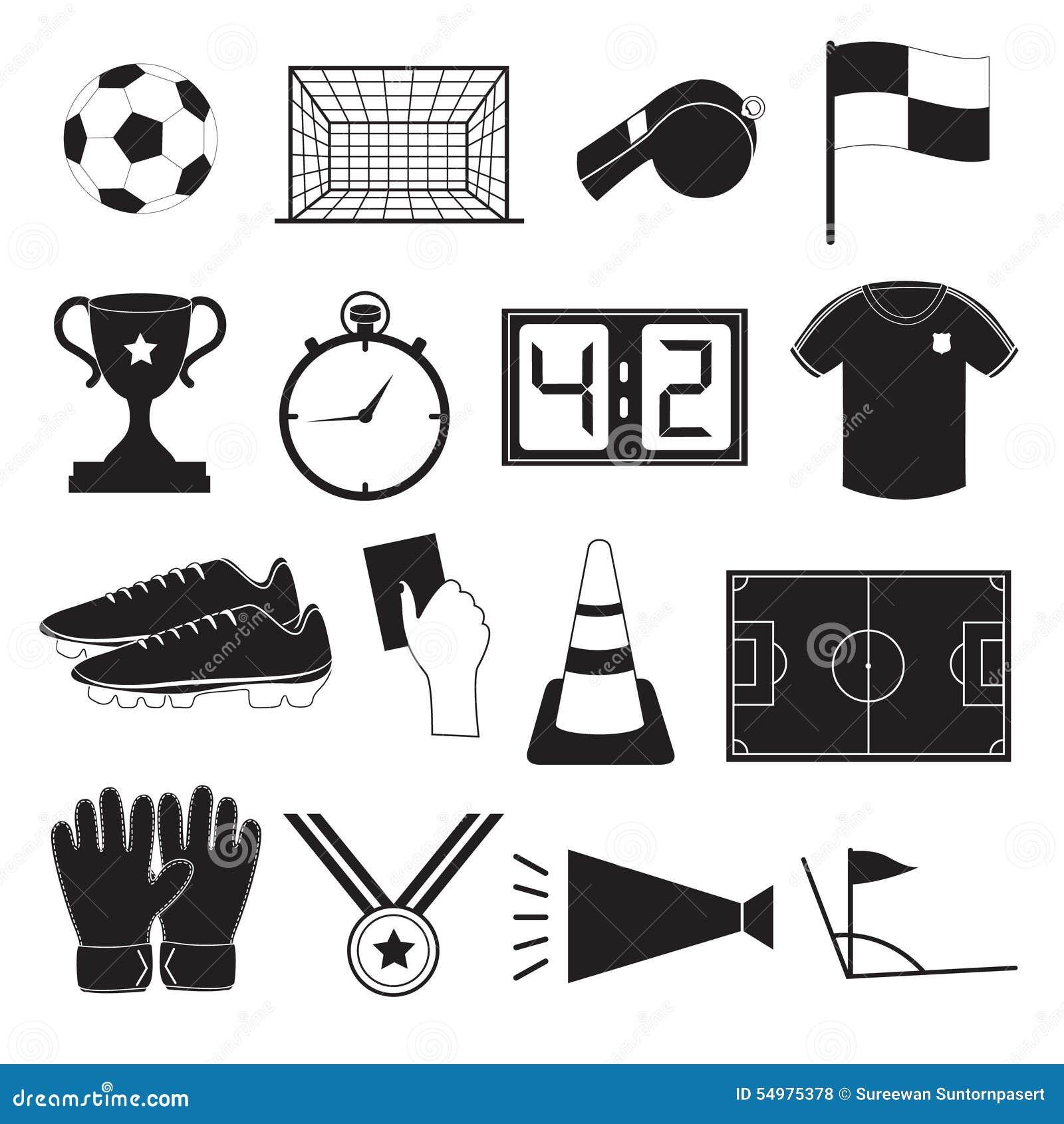 Fotboll- eller fotbollsymbolsuppsättning