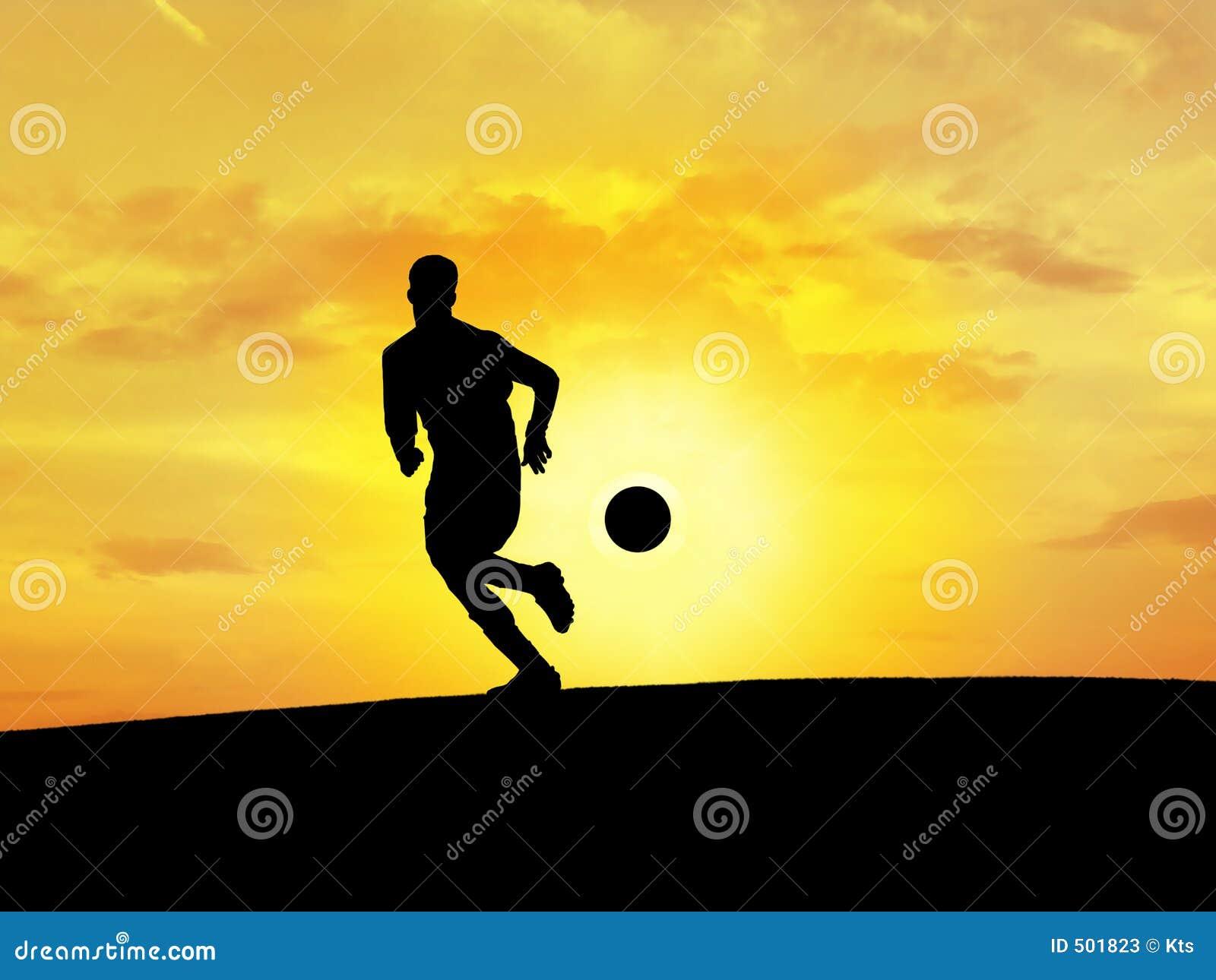 Fotboll för 2 silhouette