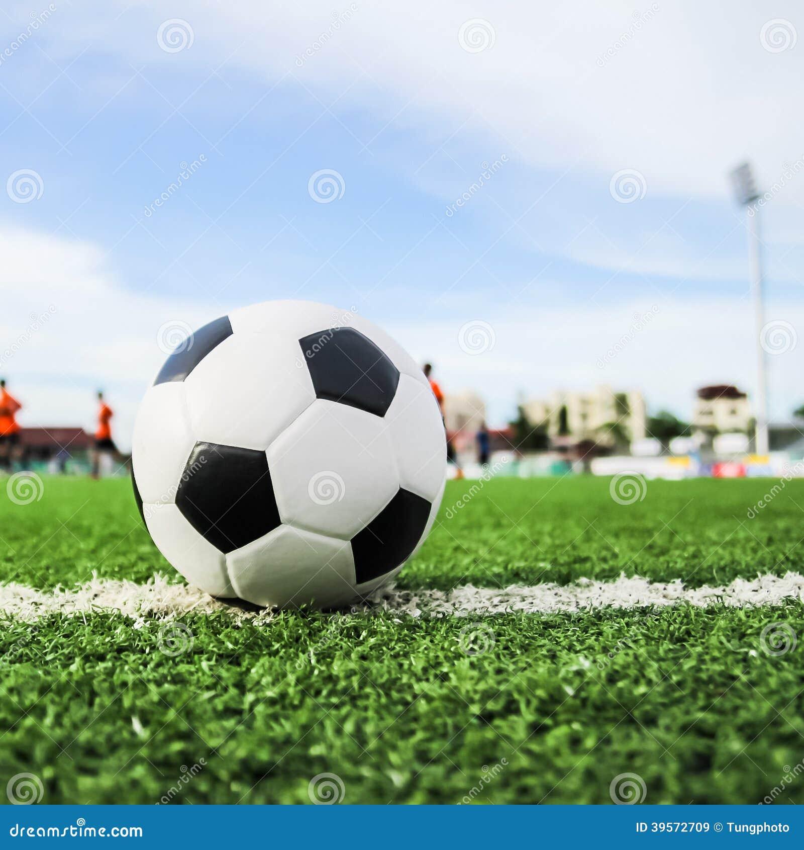 Fotboll för bollgräsgreen