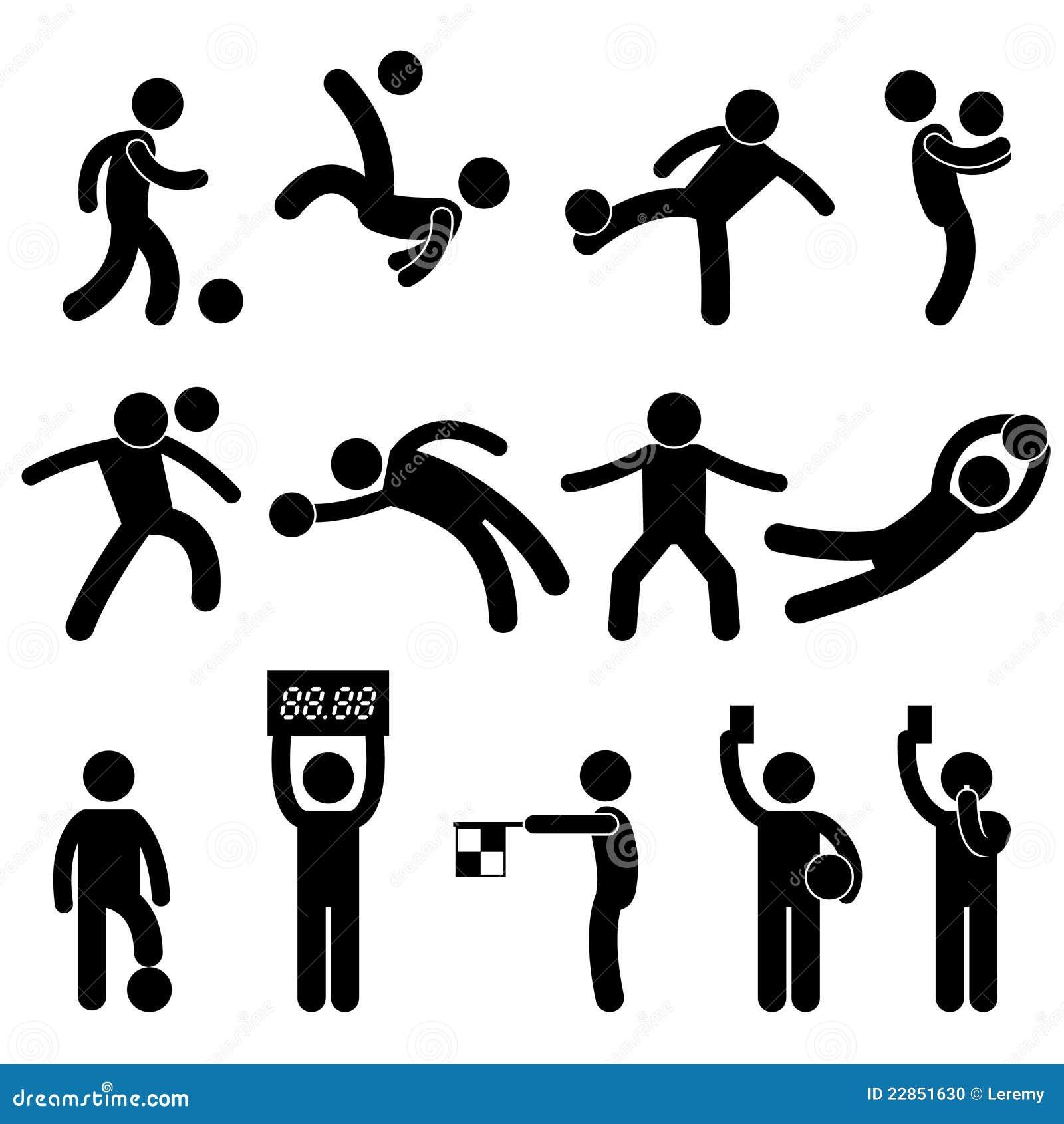 Fotboll för domare för pictogram för fotbollmålvaktsymbol