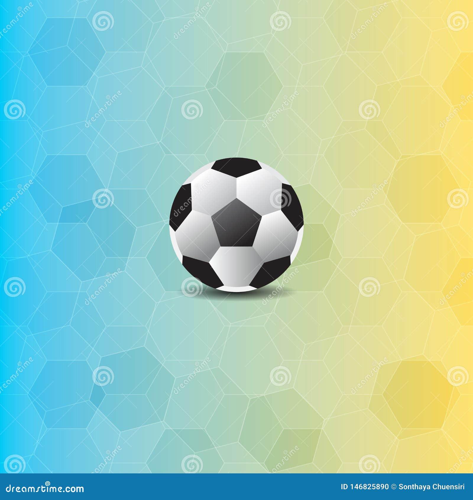 Fotbollboll i polygonbakgrund