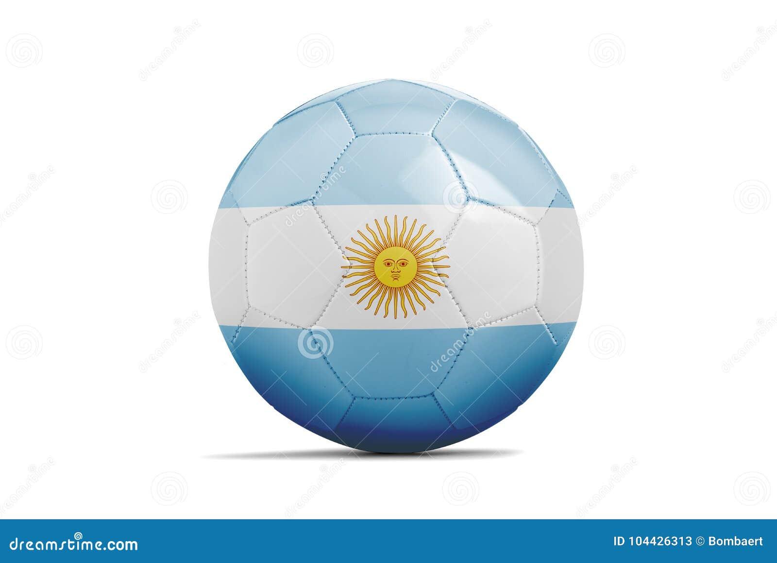 Fotbollboll med lagflaggan, Ryssland 2018 arenaceous