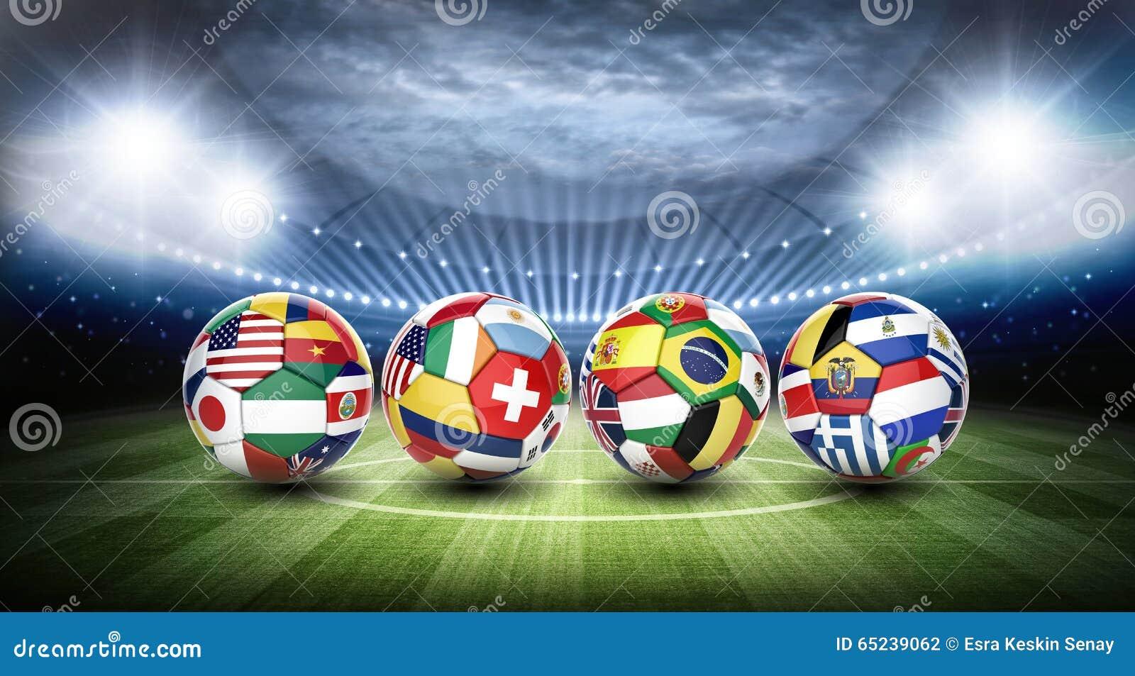 Fotbollbollar och stadion