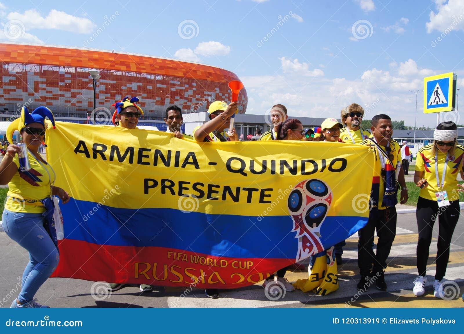 Fotbollsfan av Colombia