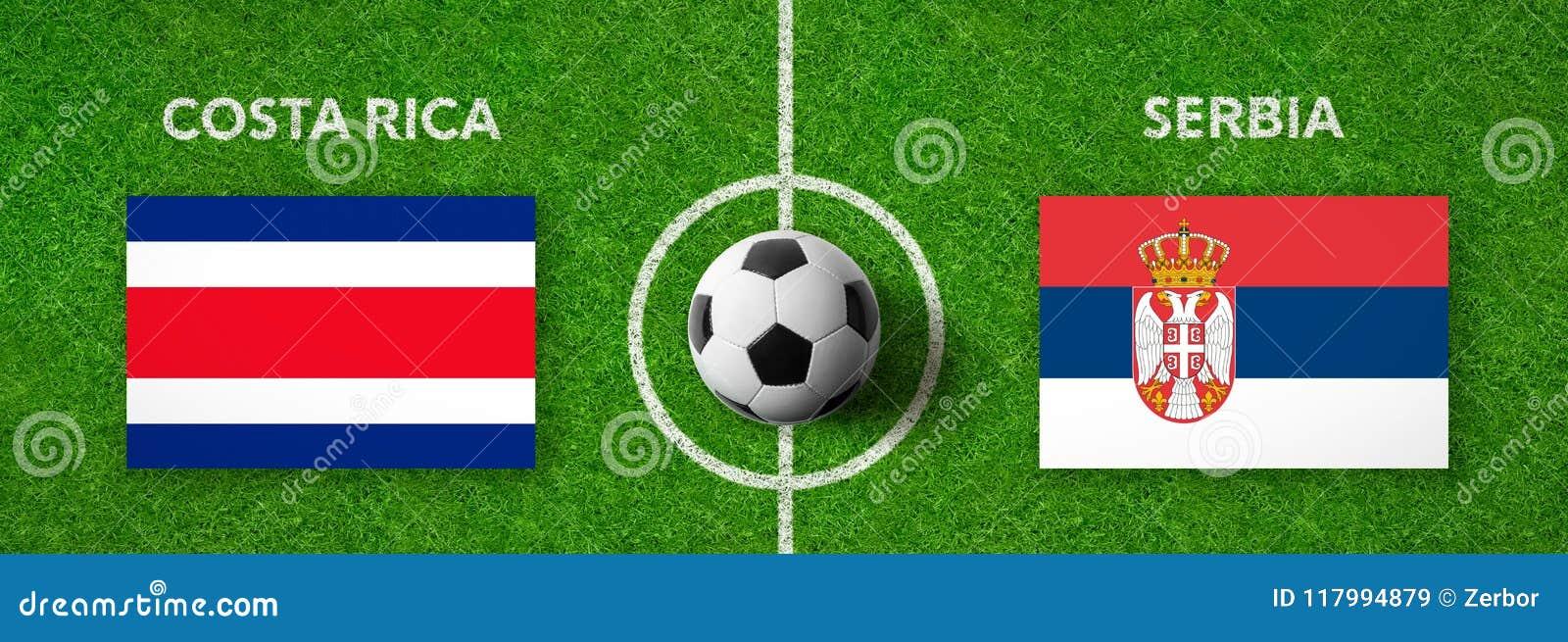 Fotbollsmatch Costa Rica vs serbia