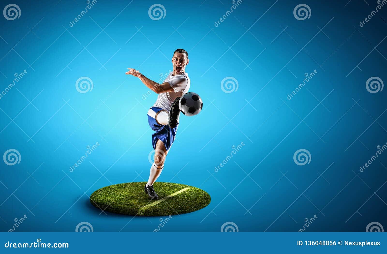 Fotbollspelare på rund sockel Blandat massmedia