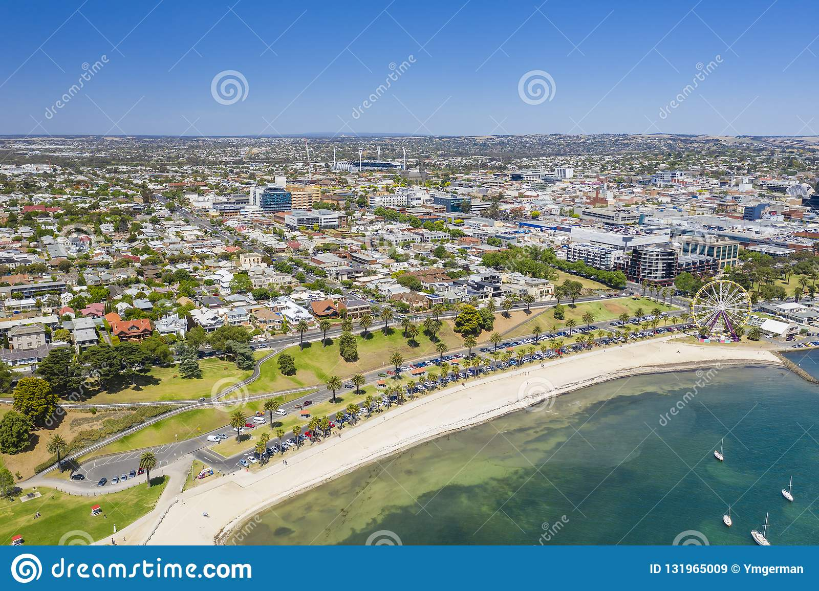 Foto aérea de Geelong en Victoria, Australia