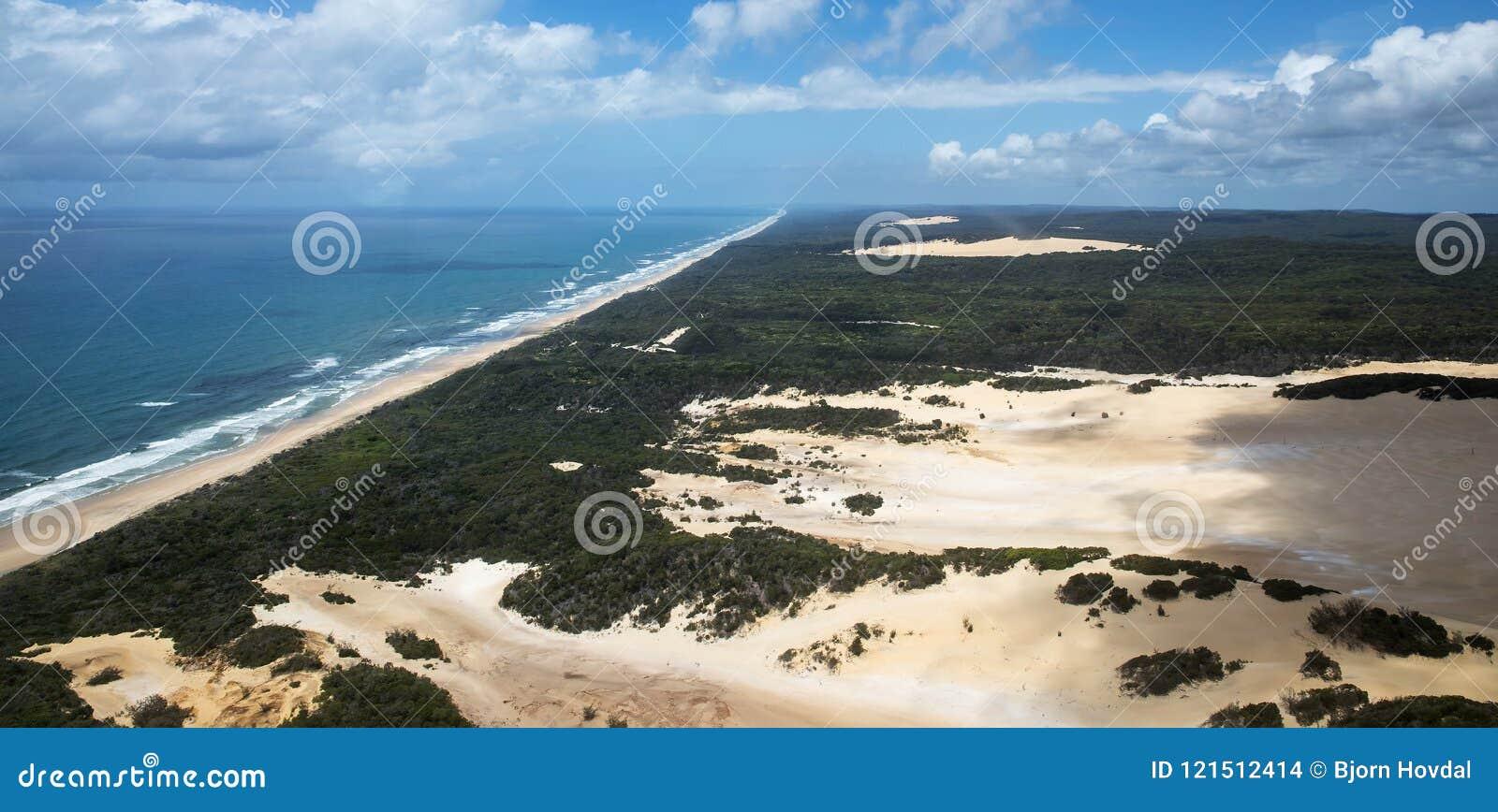 Foto aerea di Fraser Island