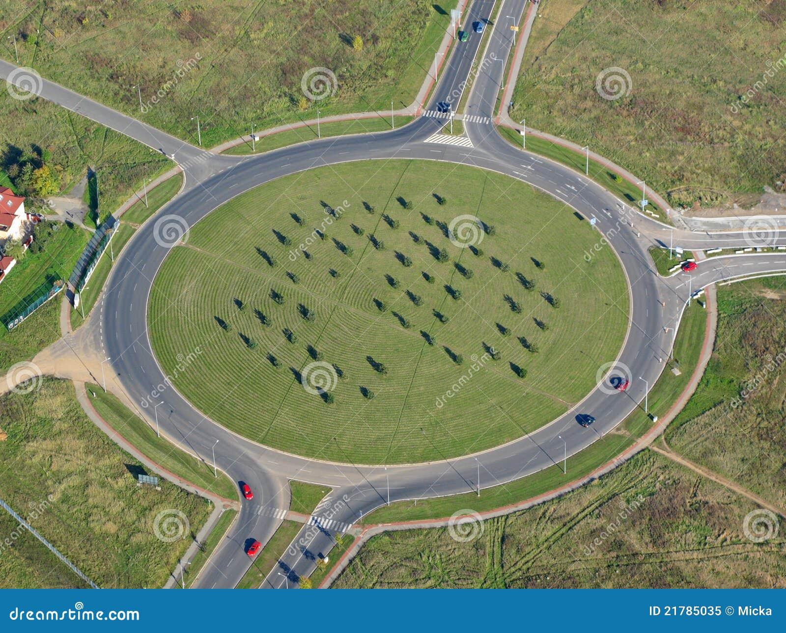 Foto aerea di una rotonda