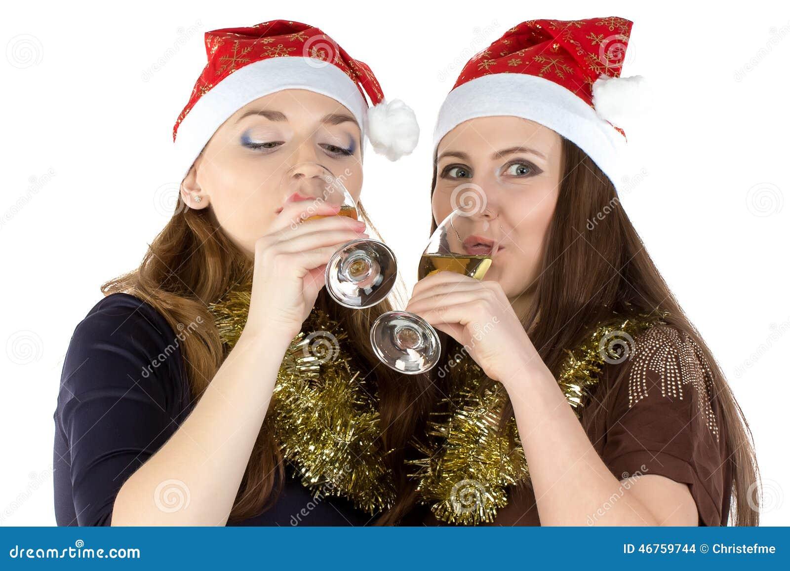 Foto av att dricka kvinnor med exponeringsglasen