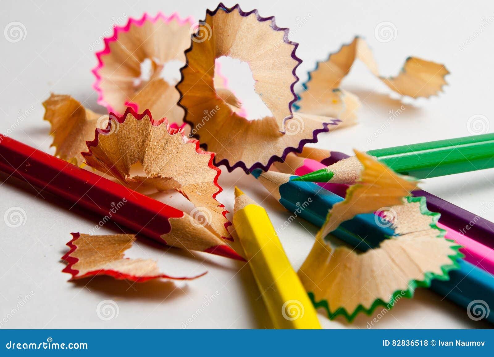 Foto de lápices coloreados previstos