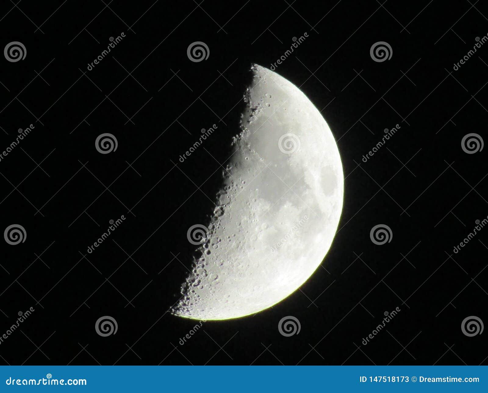Foto de la noche de la media luna