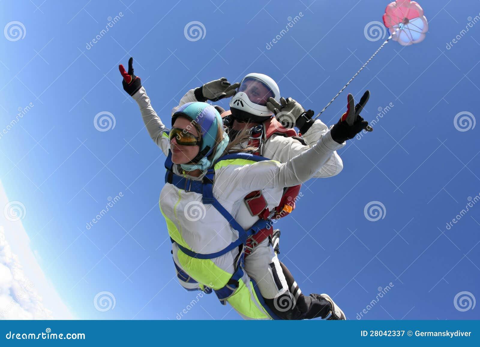 Foto de Skydiving. En tándem.