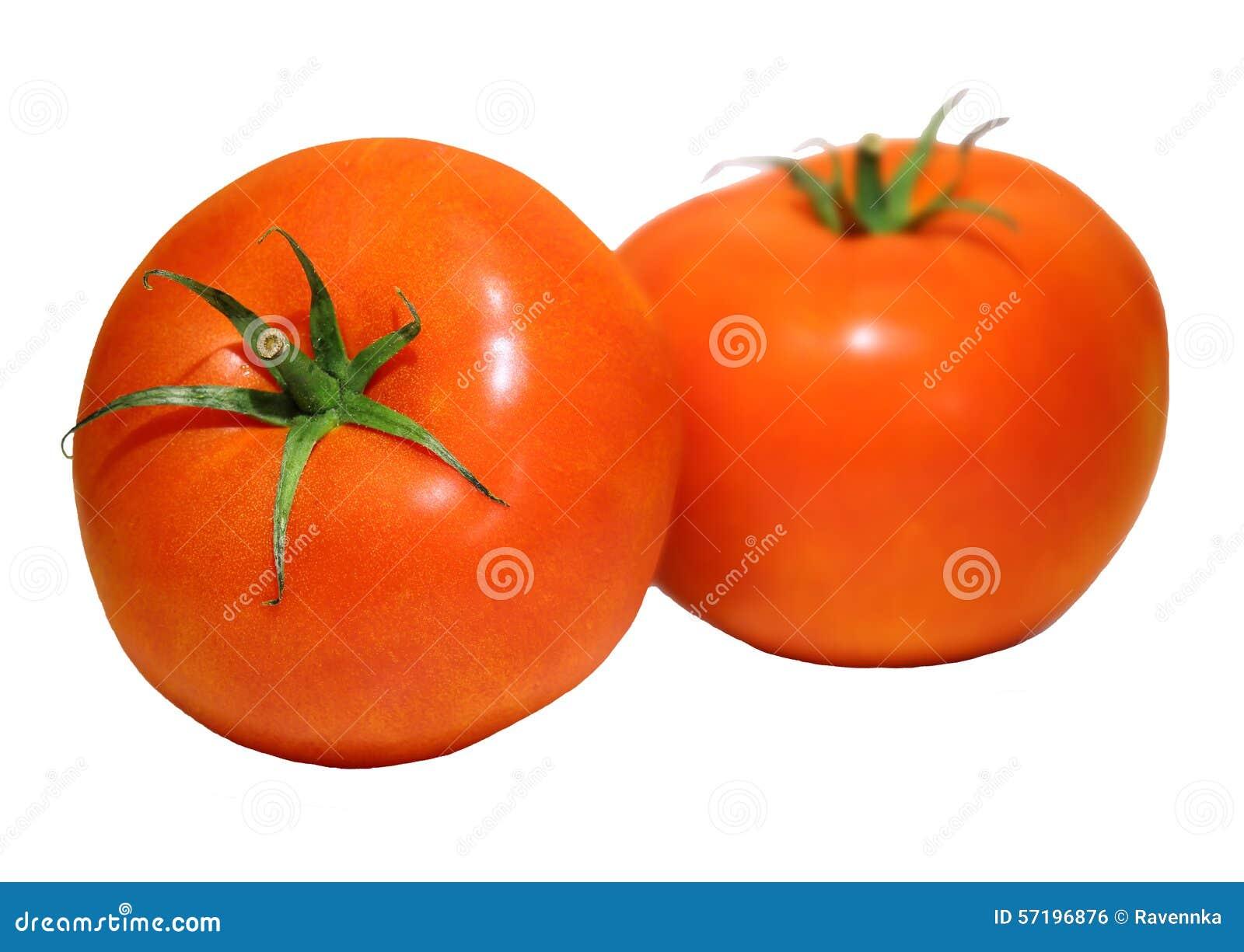 Foto de 2 tomates meaty isolados no branco