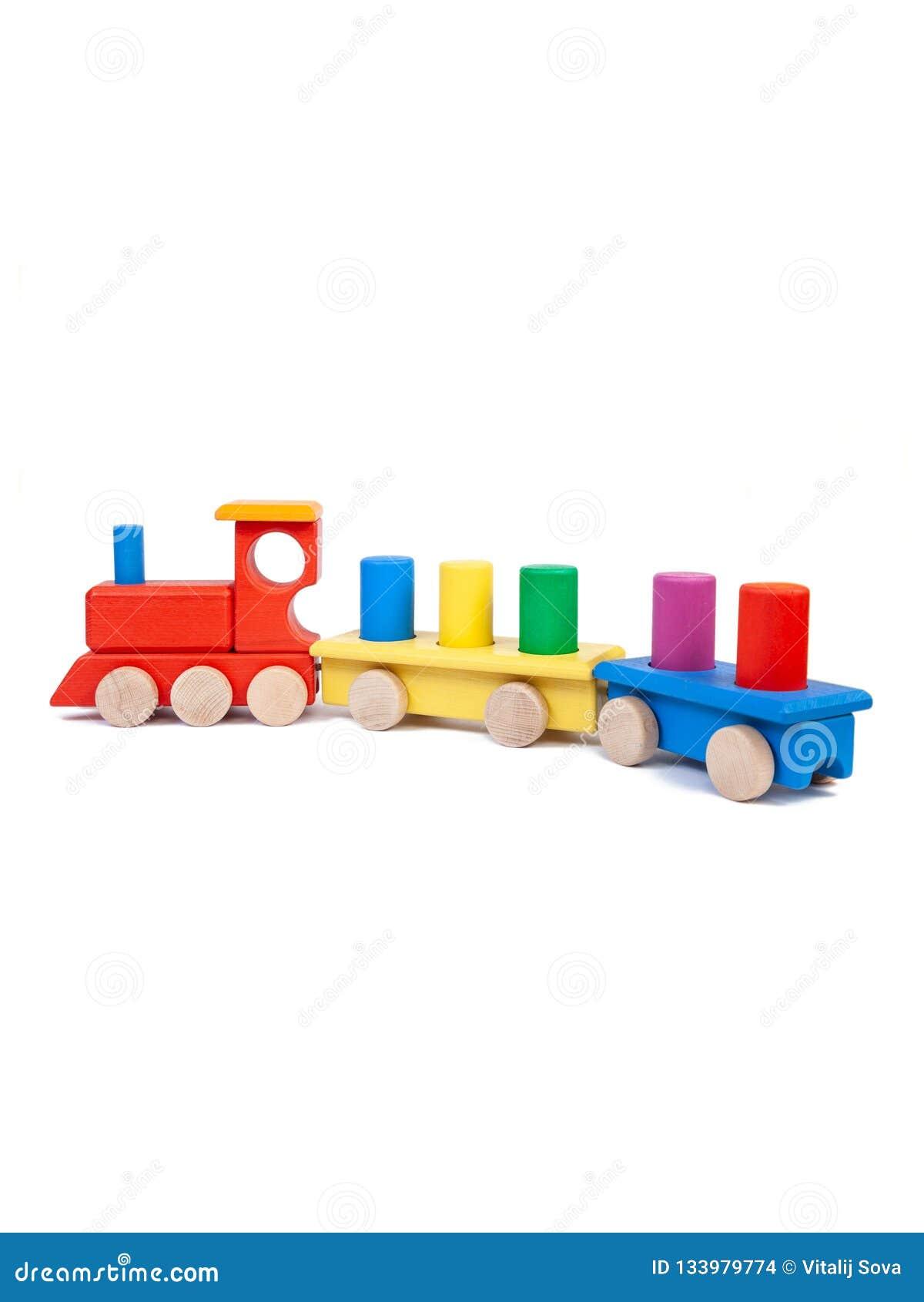 Foto de un juguete de madera
