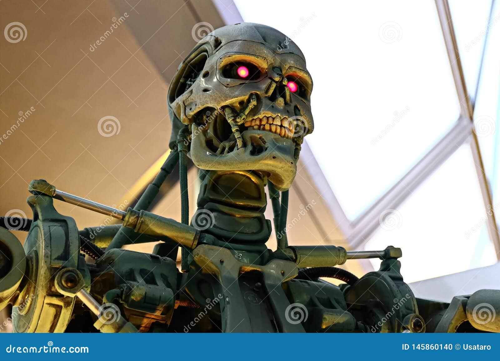 Foto del esqueleto del extremo T-800